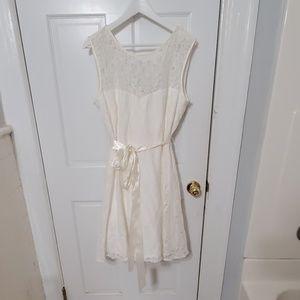 White reception dress